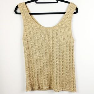 Cache Metallic Gold Tank Top